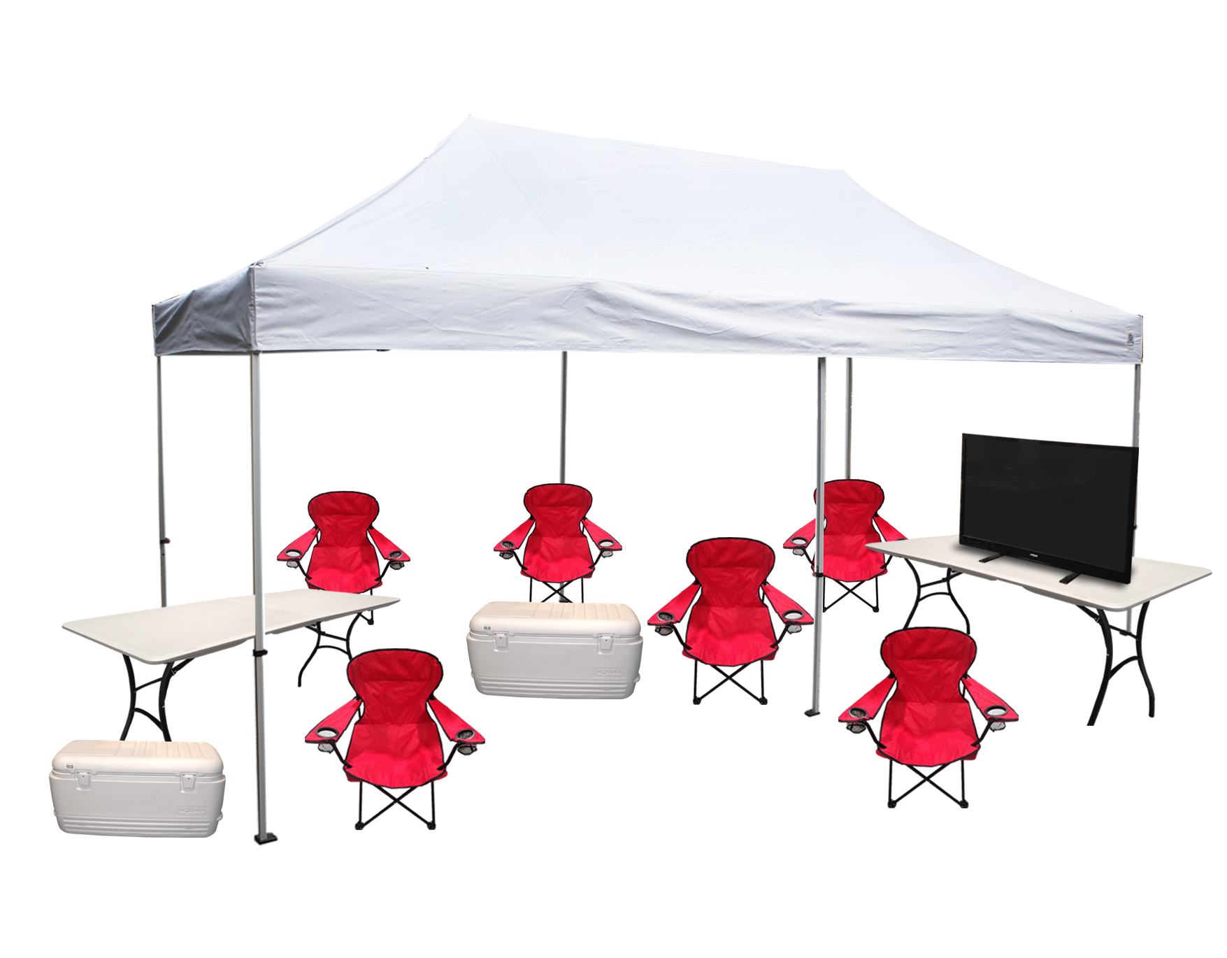 Tent/TV Setups  sc 1 th 198 : college tailgate tents - memphite.com