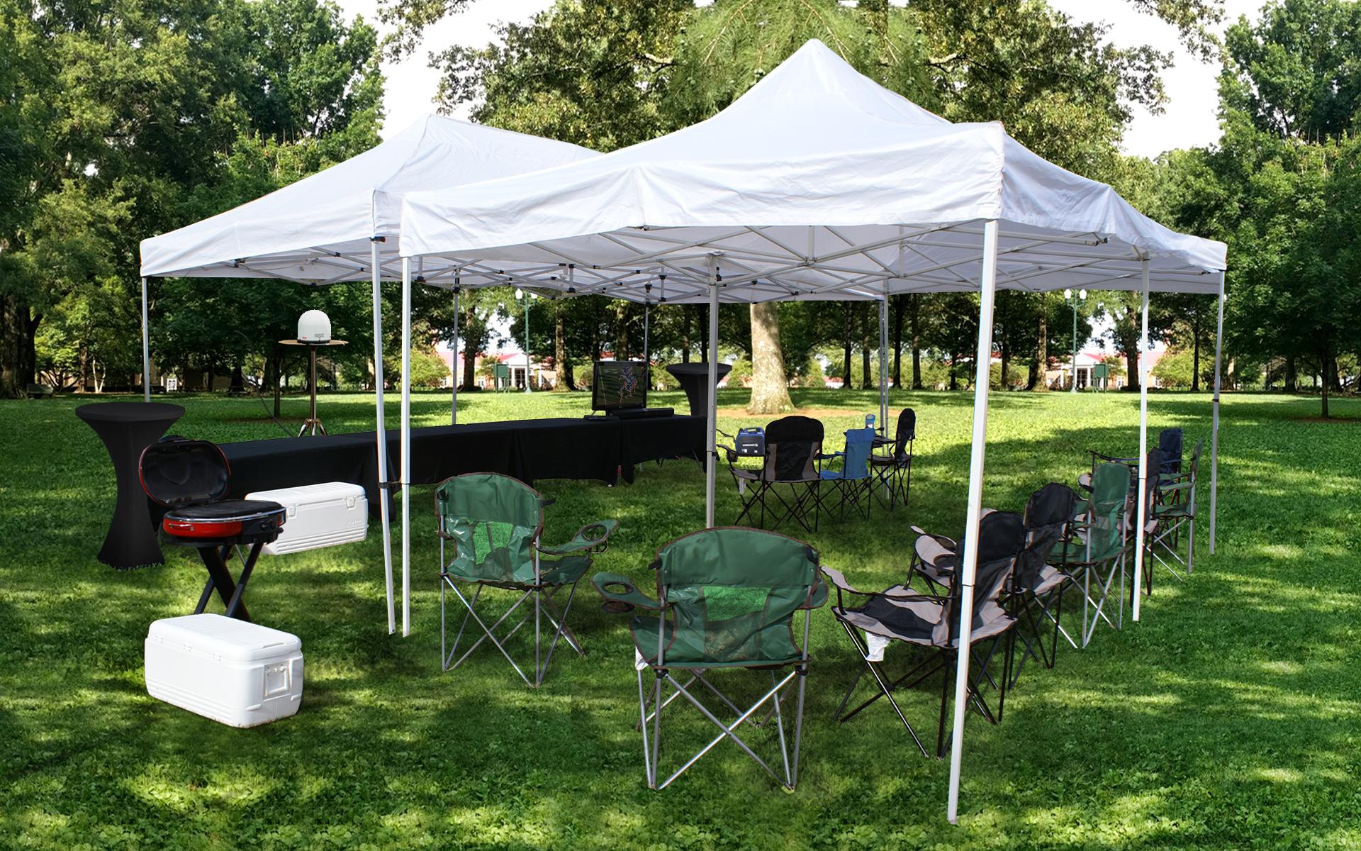UGA-20x20-tent-tv-setup-company