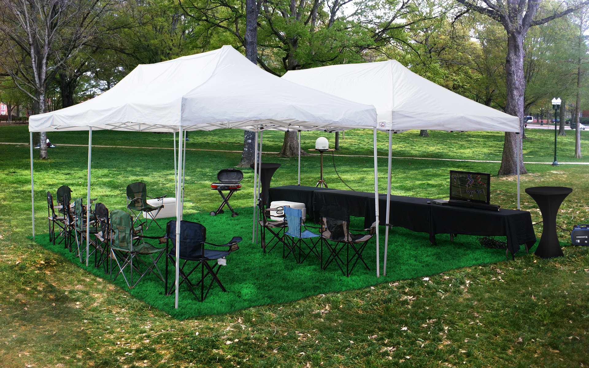 20x20-tent-tv-setup-tailgate-group & Greenville North Carolina Tailgating Trailer Rentals | Tailgate Group