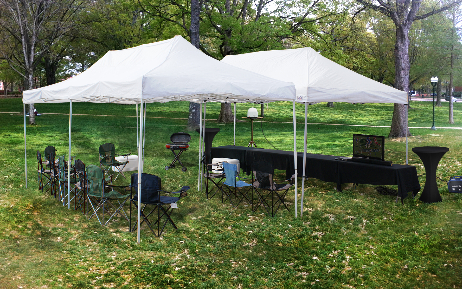 georgia-football-large-tent-tv-setup-services